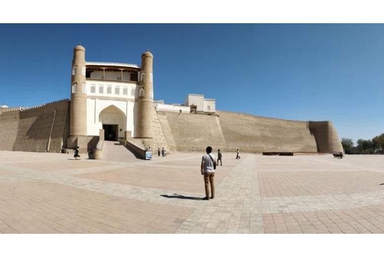 Everything is big in Uzbekistan The ancient Ark Citadel in Bukhara.