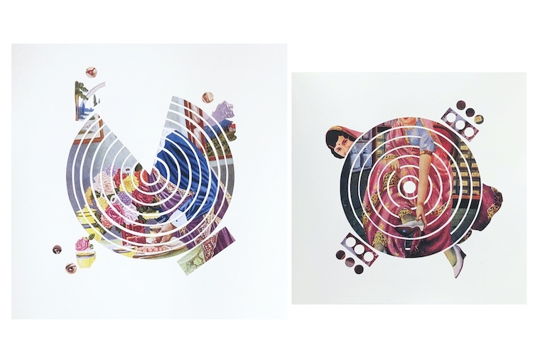Maya Varadaraj L: Perfectly Fragmented and Unraveling ; R: Revolution of Sorts Collage 2020