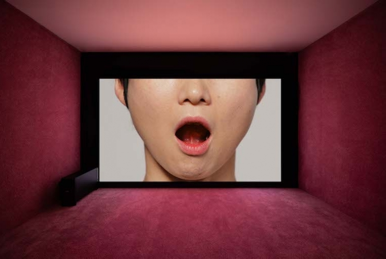 No Space, Just a Place Yunjung Lee, Tongue Gymnastics, 2020; exhibited by d/p. Exhibition view, No Space Just a Place, Daelim Museum, Seoul (2020)