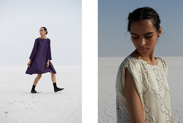 The Summer House The edit Girl From Kutch; features 25 timeless, easy styles that draw inspiration from the terrain, the life and the women of Kutch, Gujarat.