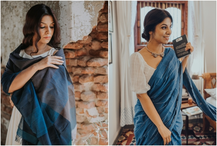 WomenWeave A scarf and a sari by the weavers