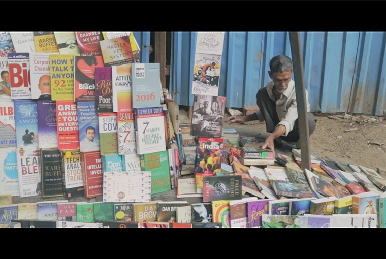 Zen and the Art of Bookselling Bablu Chakraborty, still from the film