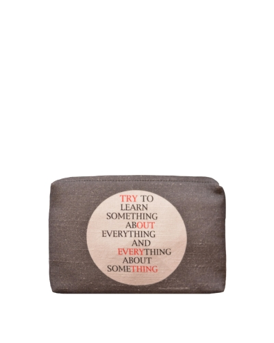 Grey Canvas Pouch Front